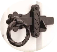 Twisted Ring Gate Latch for PVC details