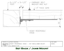8292 Heavy Reversible Hinge Setback / Jamb Mounted