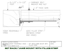 8292 Heavy Reversible Hinge Setback / Jamb Mounted with Filler