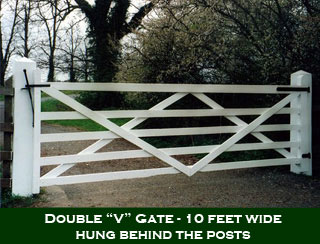 English 5 Bar Double V Gate